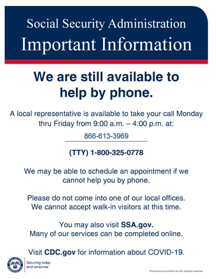 Important Info From The Social Security Administration